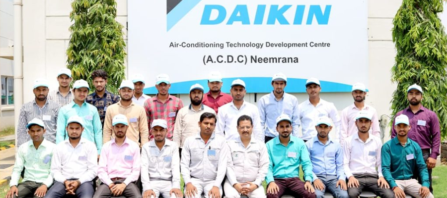 Daikin ACDC Neemarana 7 Days Training visit for RAC students