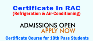 Certificate in RAC for 10th Pass Students