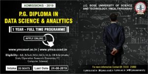P.G. Diploma in Data Science and Analytics